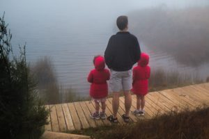 Divorced noncustodial parent on vacation with kids