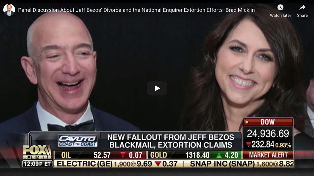 VIDEO: Jeff Bezos' Divorce + National Enquirer Extortion